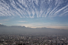 .. (d. yee) Tags: chile city travel santiago film southamerica smog cerrosancristbal fujifilmpro