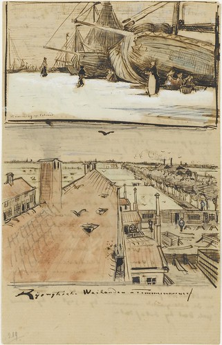 Fishing boats on the beach AND Rooftops - July 1882 (251)