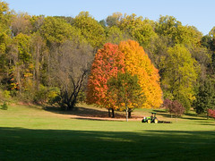 One Last Mow (Scouttyboy) Tags: fall mower lehighparkway