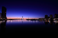 When the night comes in Docklands (kth517) Tags: reflection dusk australia melbourne docklands  boltebridge