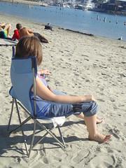 Kat relaxes
