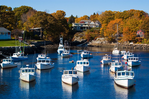 The boats at Perkin's Cove, Maine