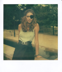 One of us 2 (Flibustier et Cie) Tags: portrait woman girl polaroid sx70 femme belle laurie jadoresonhaut