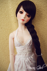 Eileen - DOT Shall (-Poison Girl-) Tags: brown white ball doll dolls dress dream super dot sd wig bjd brunette dollfie superdollfie dod eileen poisongirl shall dreamofdoll balljointeddoll bjds dotshall dodshall