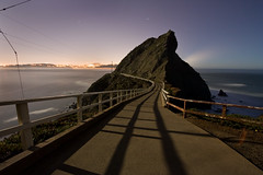 Point Bonita: Path to the Lighthouse (AGrinberg) Tags: ocean sf sanfrancisco california longexposure night fence bay glow path marin explore frontpage lighhouse pointbonita ggnra 10mm ptbonita 4minutes 63535bonitapath