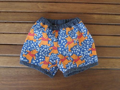 Pooh baby shorts