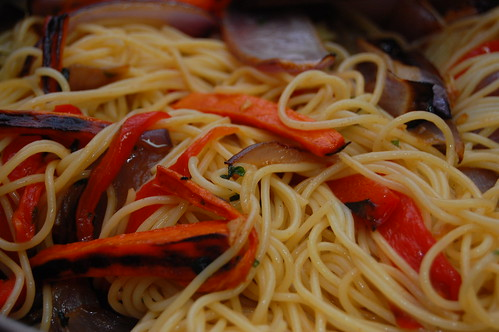 Spaghetti With Roasted Vegetables And Sage