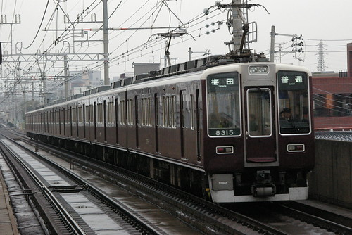 Hankyu8300series(type3) in Kamishinjo,Osaka,Osaka,Japan 2009/11/22