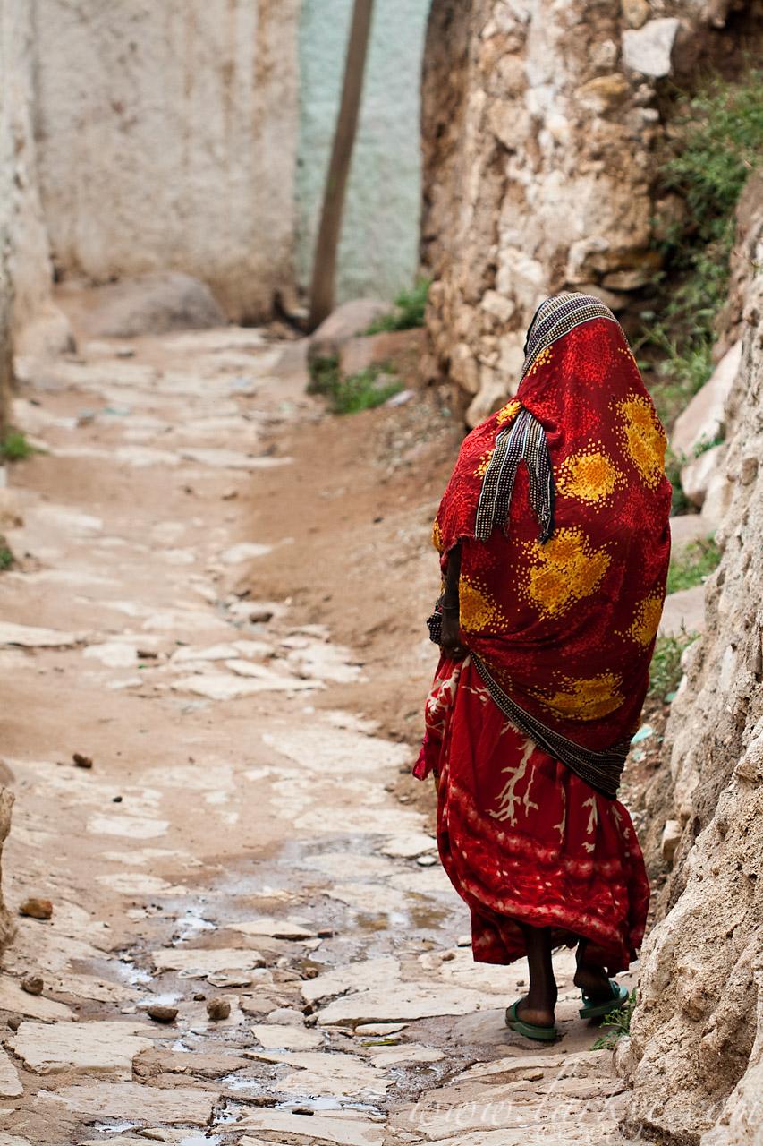 Woman in Street #5, Harar, Ethiopia, 2009