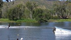 IWSF leg amputee world record 2005 (Alphonse Mouzon) Tags: jump record disabled townsville waterski amputee iwsf legamputee