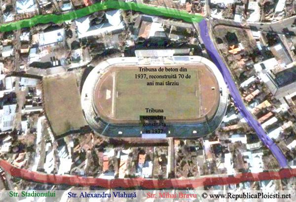 Stadionul - azi - vazut din satelit