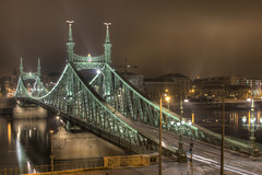 Szabadsg hd / Liberty bridge - Budapest ( Hungary ) (kgka00) Tags: light night canon eos long exposure hungary tripod budapest hdr exposures magyarorszg wow1 wow2 wow3 blueribbonwinner photomatrix 450d hdraward mygearandme mygearandmepremium mygearandmesilver