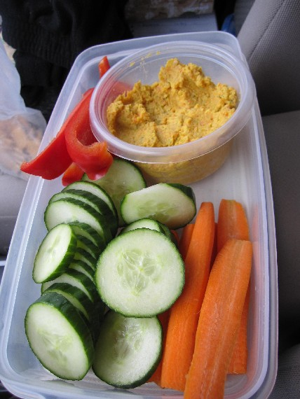 Curried Chick Pea Spread with Veggies