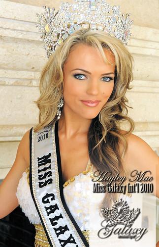 Hayley Mac, Miss Galaxy International 2010