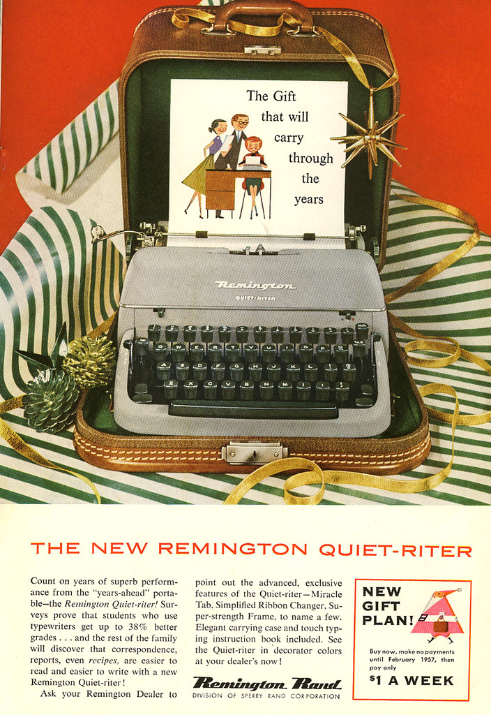Remington Quiet-Riter ad_1956_tatteredandlost