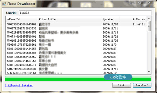 Picasa Downloader – Picasaweb 网络相册下载