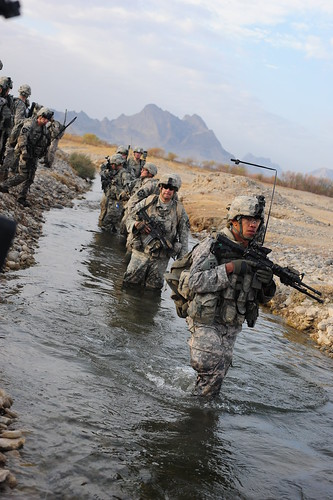 Soldiers conducting counter insurgency operations.