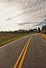 !@#$%^&*( (Mary C. Martin) Tags: road sky colors clouds warm december ripple southern quaint hdr