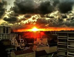 """SNB19164- Black sunset Le Havre France  美妙的颜色 色彩斑斓的天空 - 宾得 (Rolye) Tags: sky black france clouds yahoo google image samsung www images le havre com msn nuages picturesque aol baidu ops smörgåsbord nv7 """"flickraward"""""""