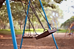 .Childhood. (.krish.Tipirneni.) Tags: park blue trees india childhood playground kids happy 50mm chains nikon play bokeh joy days swing chain swinging f18 hyderabad hpc andhrapradesh d80 gonearethedays rktobjects sanjeevaiahpark krishtipirneni