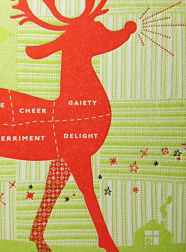 Reindeer Postcard CU