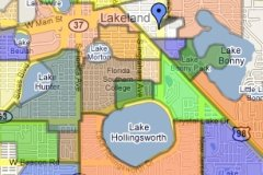 Lakeland Florida Neighborhood map Sm1
