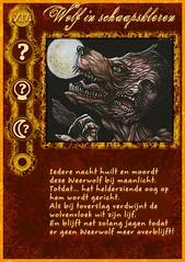 """""""Wolf in schaapskleren"""" rolkaart uit mijn zelfgemaakte Weerwolven mega-set"""