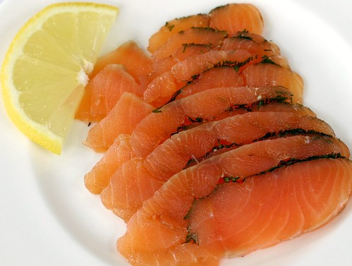 dill cured salmon fillet