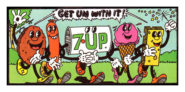 7Up_Get Un With It__vintage UnCola billboard poster signed by Pat Dypold