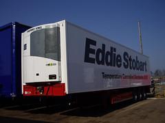 STOBART trailer fitted with TK SLX 200 fridge unit