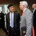Chancellor Woodson talks with U.S. Secretary of Commerce Gary Locke.