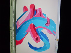 sin trazo. (FALSO: Graffiti Art) Tags: estudio 3dart letraf graffiti3d graffitidigital falsoart