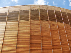Cutting Edge (Douguerreotype) Tags: uk gb britain british england london architecture buildings velodrome olympic roof wood wooden modern geometry geometric lines city urban