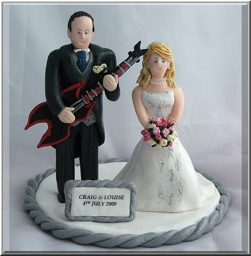 Fimo Wedding Cake Toppers