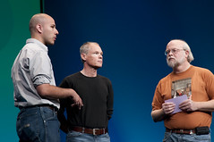 "Marcial Hernandez, Greg Bollella and James Gosling, General Session ""The Toy Show"" on June 5, JavaOne 2009 San Francisco"