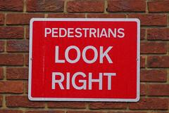 Heathrow - Pedestrians Look RIght