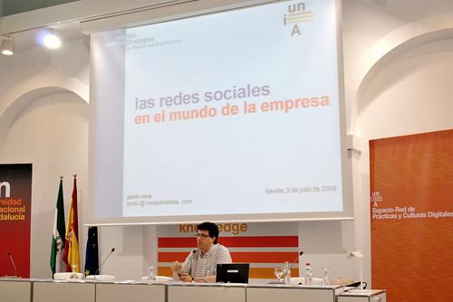 Genís Roca, durante su charla