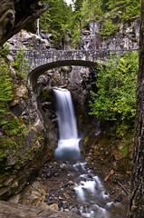 Falls at Mt. Rainier (StaticSparks.com) Tags: park bridge nature water rock river waterfall washington stream paradise falls lodge mount national rainier wa arkansasphotographer staticsparks staticsparksblog josephsparks photographerinnorthwestarkansas