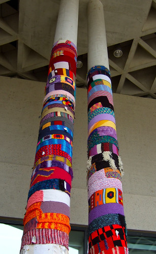 Knitta Please Columns - National Gallery of Australia