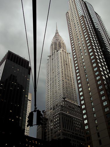 Chrysler building storm by you.