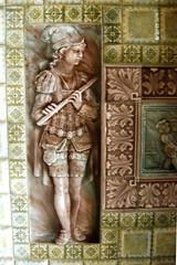 ceramic flautist (moocatmoocat) Tags: tile ceramic newjersey flute greens elizabethan lambertville flautist