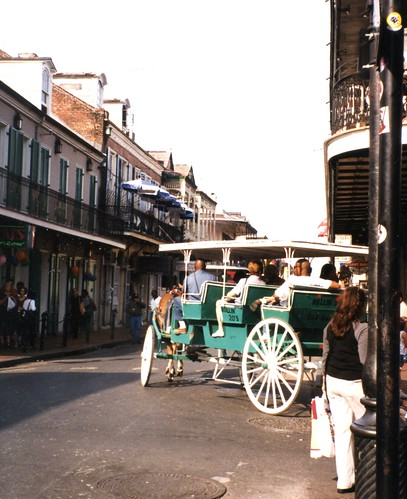 French Quarter street scene, early in the day
