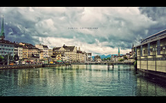 Zurich, Switzerland (isayx3) Tags: city water skyline canon river point switzerland canal europe shoot post zurich ps powershot process channel pp fridays s500 nonhdr plainjoe isayx3 utstandingimages