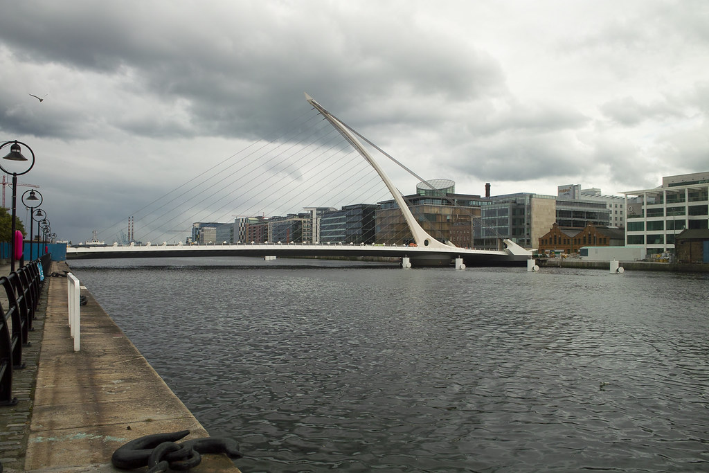 Beckett Bridge Across The Liffey