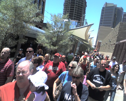 Diamondback fans exit 3rd / Washington