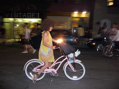 Cycling with a sparkler