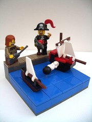 Captain Morgan: Scourge of the Pond (2 Much Caffeine) Tags: ship lego cove seed forbidden part pirate remotecontrol vignette challenge moc vig spoilingthekidsfun serveshimrightanywayforhavinganrcboatialwayswantedone