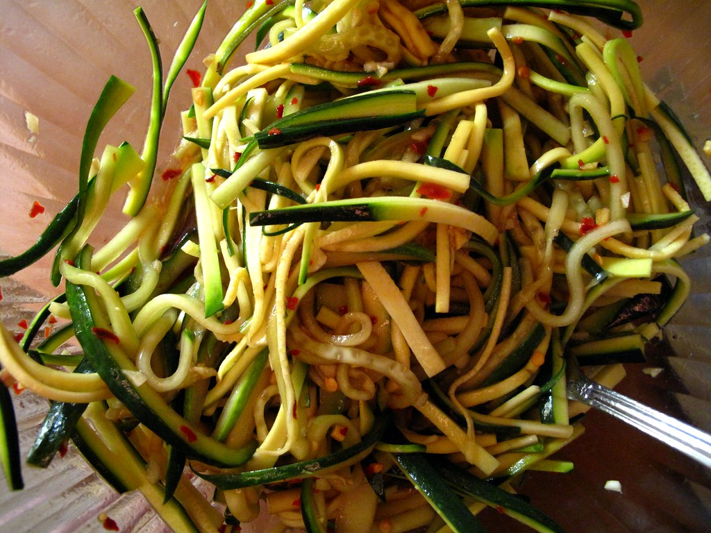 soy marinaded vegetable noodles