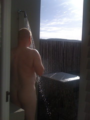 Ho ho outside shower caught in action ... (DickyW) Tags: world africa club island hotel town south cape british airways beacon bronkhorstspruit terracan
