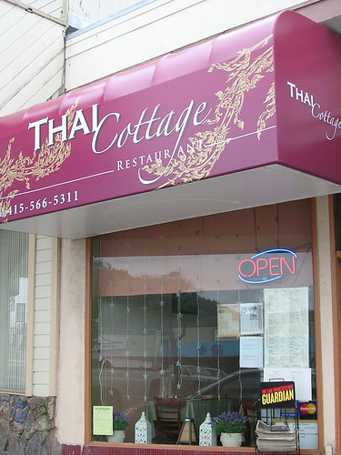 Thai Cottage - Vinyl Awning with Illuminated Digital Printed Graphic